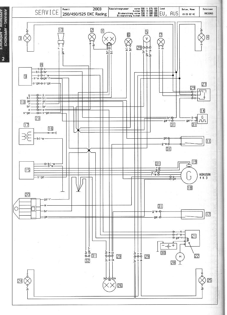 ktm 525 xc wiring diagram electrical diagrams forum u2022 rh jimmellon co uk ktm 525 xc wiring harnes