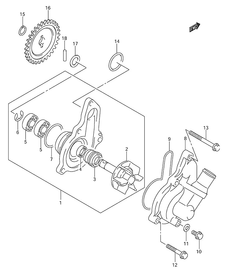 klx400 drz400 antifreeze weeping from water pump south bay riders drz400 parts diagram at suagrazia.org