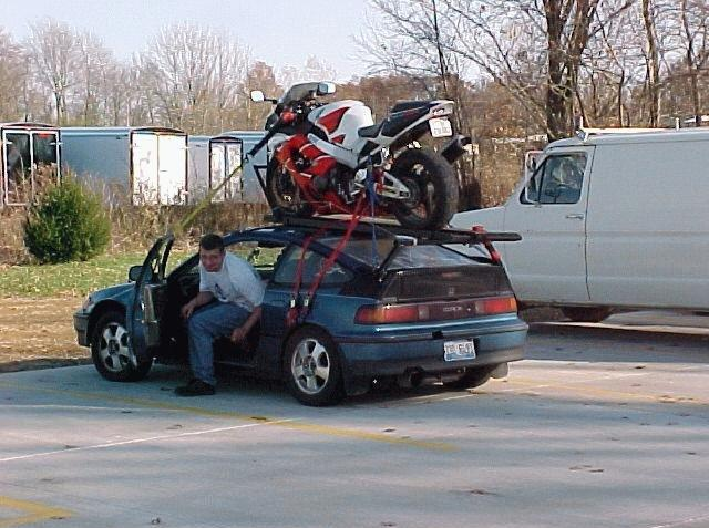 Towing A Trailer W Sportbike With A Civic South Bay Riders