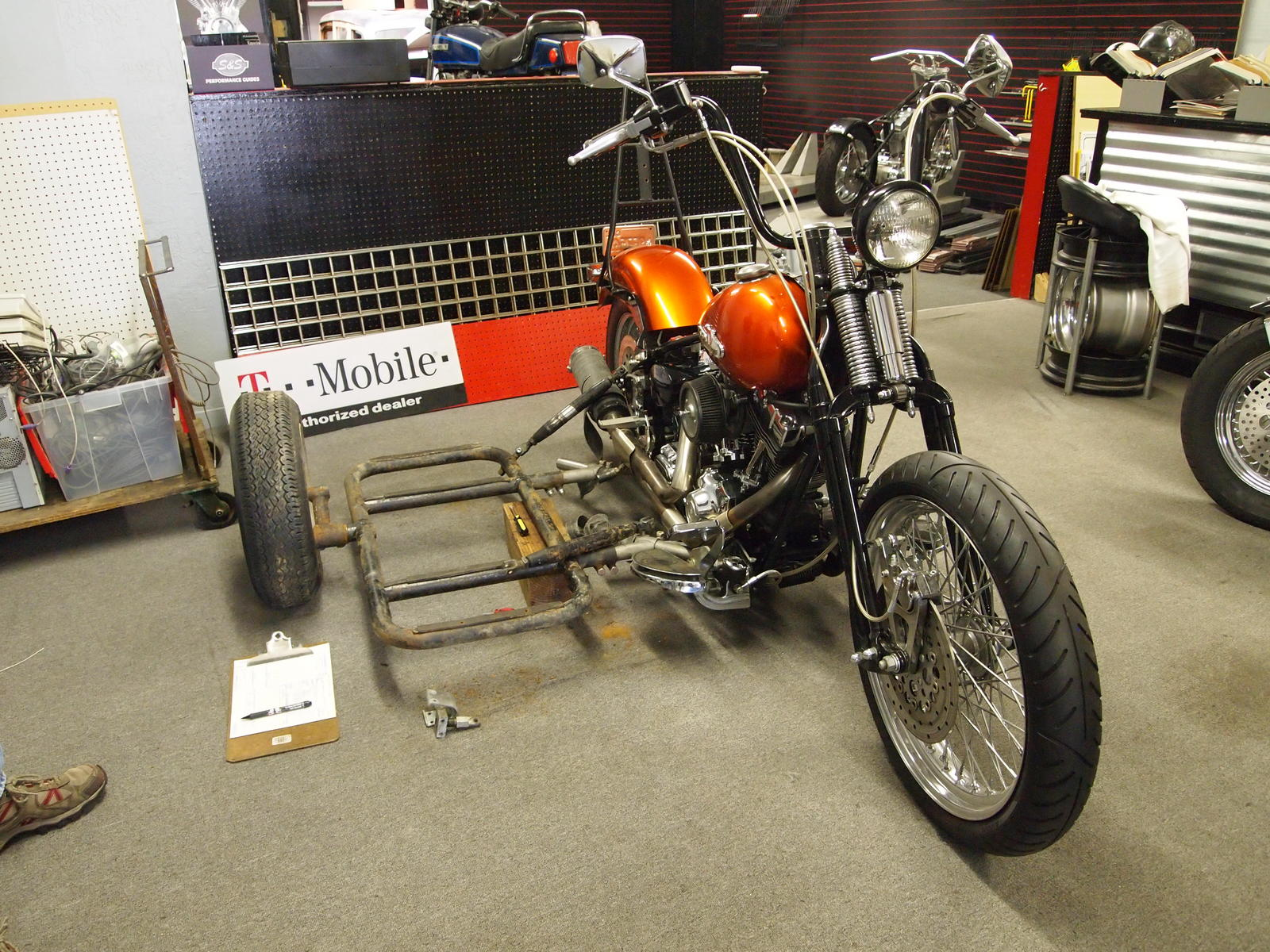 Harley Bike Build With Sidecar Almost Completed Any Other