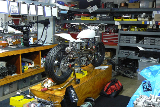 Share your motorcycle work bench pictures here south bay for Home mechanic garage layout ideas