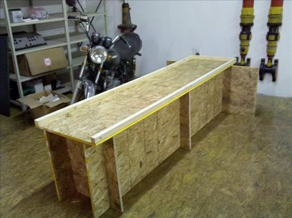 motorbike workbench plans