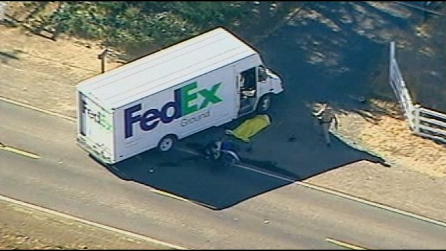 Fedex ground truck accident