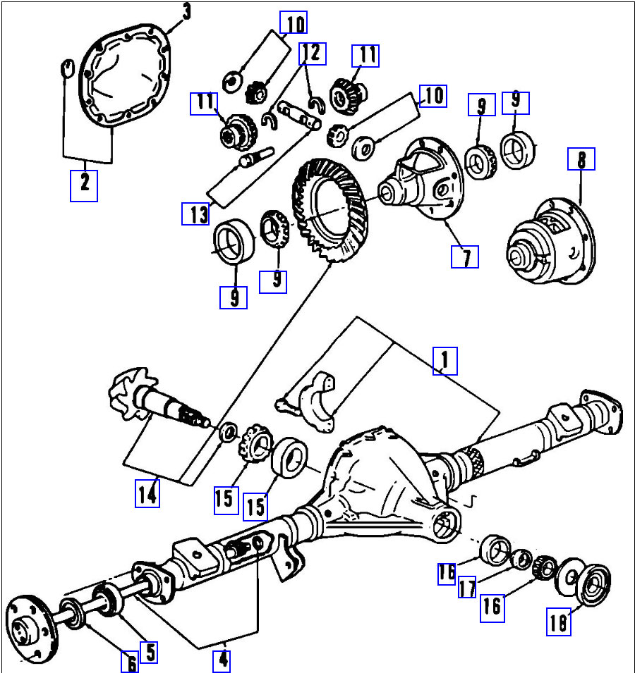 1996 Volkswagen Cabrio Golf Jetta Air Conditioner Heater Wiring Diagram And Schematics furthermore Schematics a together with Dana44 also Ford F350 Front Suspension Diagram furthermore Rear Axle Dana Models 41 44 53. on 2004 ford explorer differential diagram