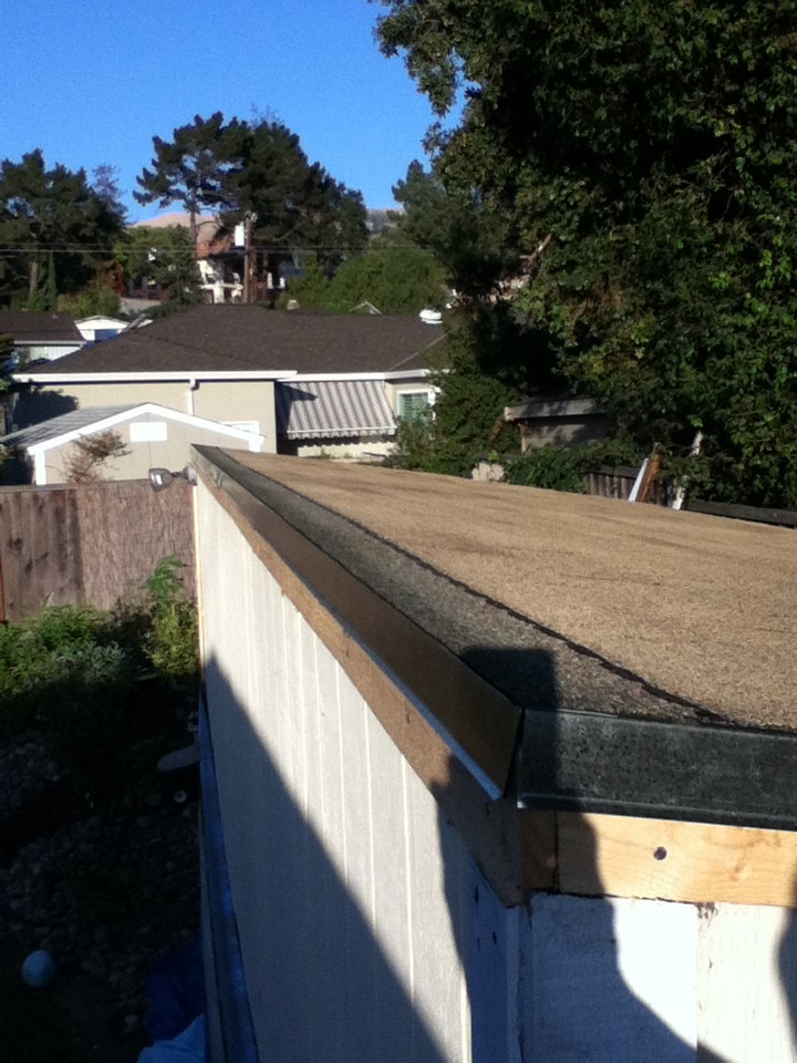 Finishing roof edge on standalone lean-to? | South Bay Riders