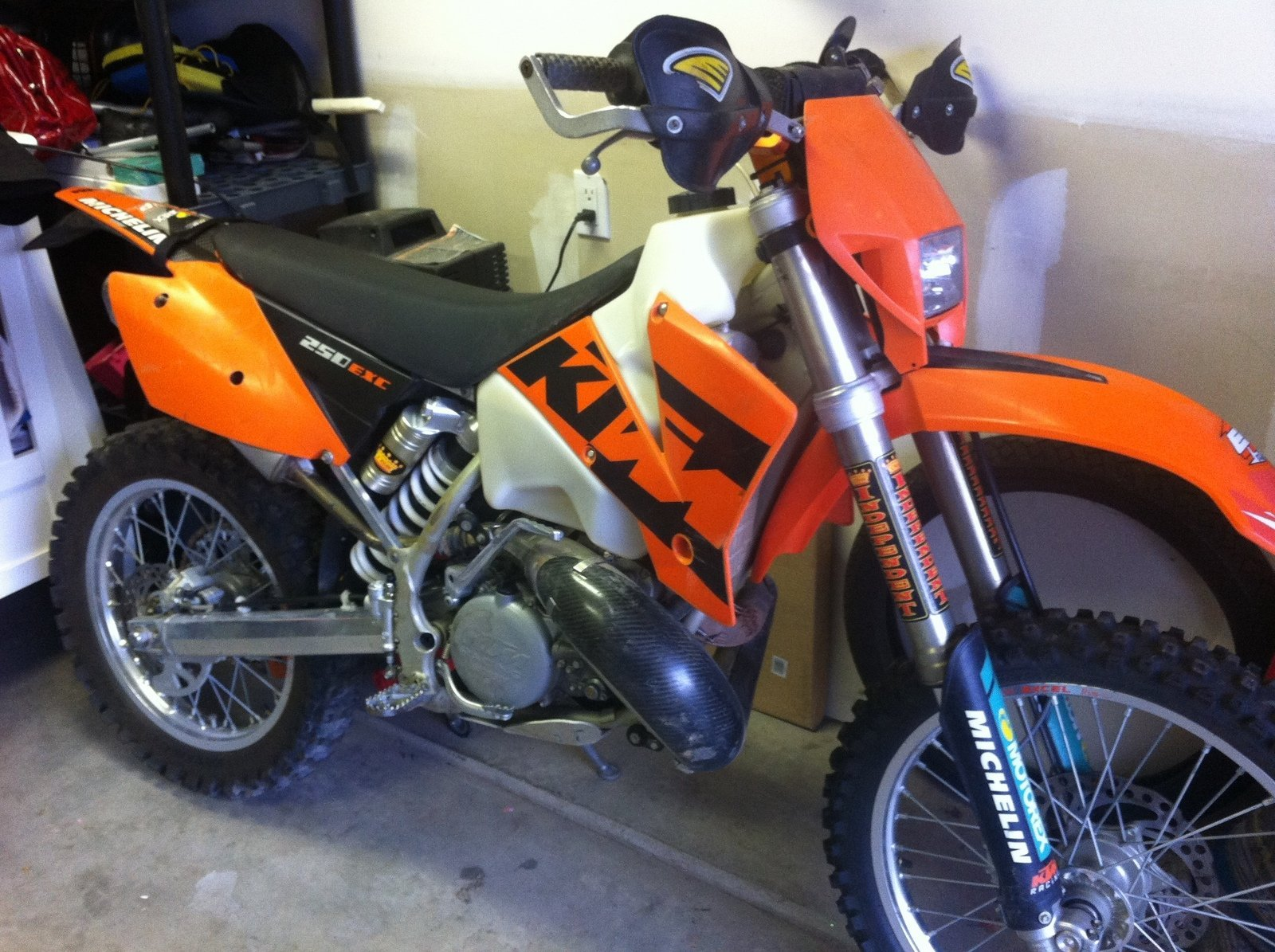 I Need A Horn And Brake Light On My Ktm With No Battery South Bay Wiring Diagram 125 Exc Six Days 200 So All To Do Is Throw An Electric Bike There Shes Ready For Inspection Plate