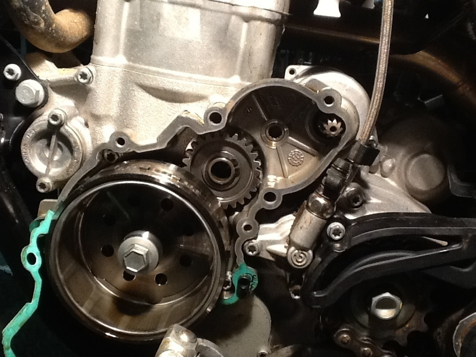 2012 ktm 350 xcf xfc  w e start motor removal