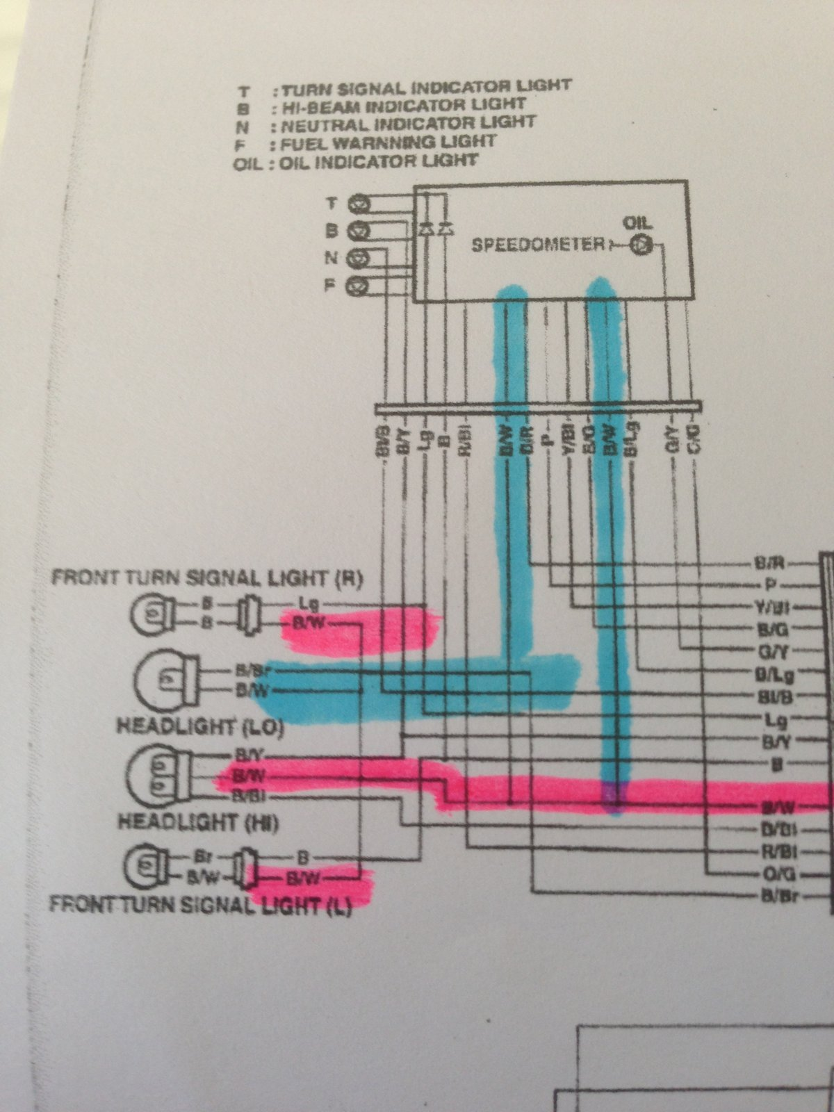 electrical question redundant ground 2005 gsxr600 south bay riders raptor wiring diagram what we can see is that the b w ground circuit you've highlighted in pink (and blue) is common to every component, including lamps that must be switched