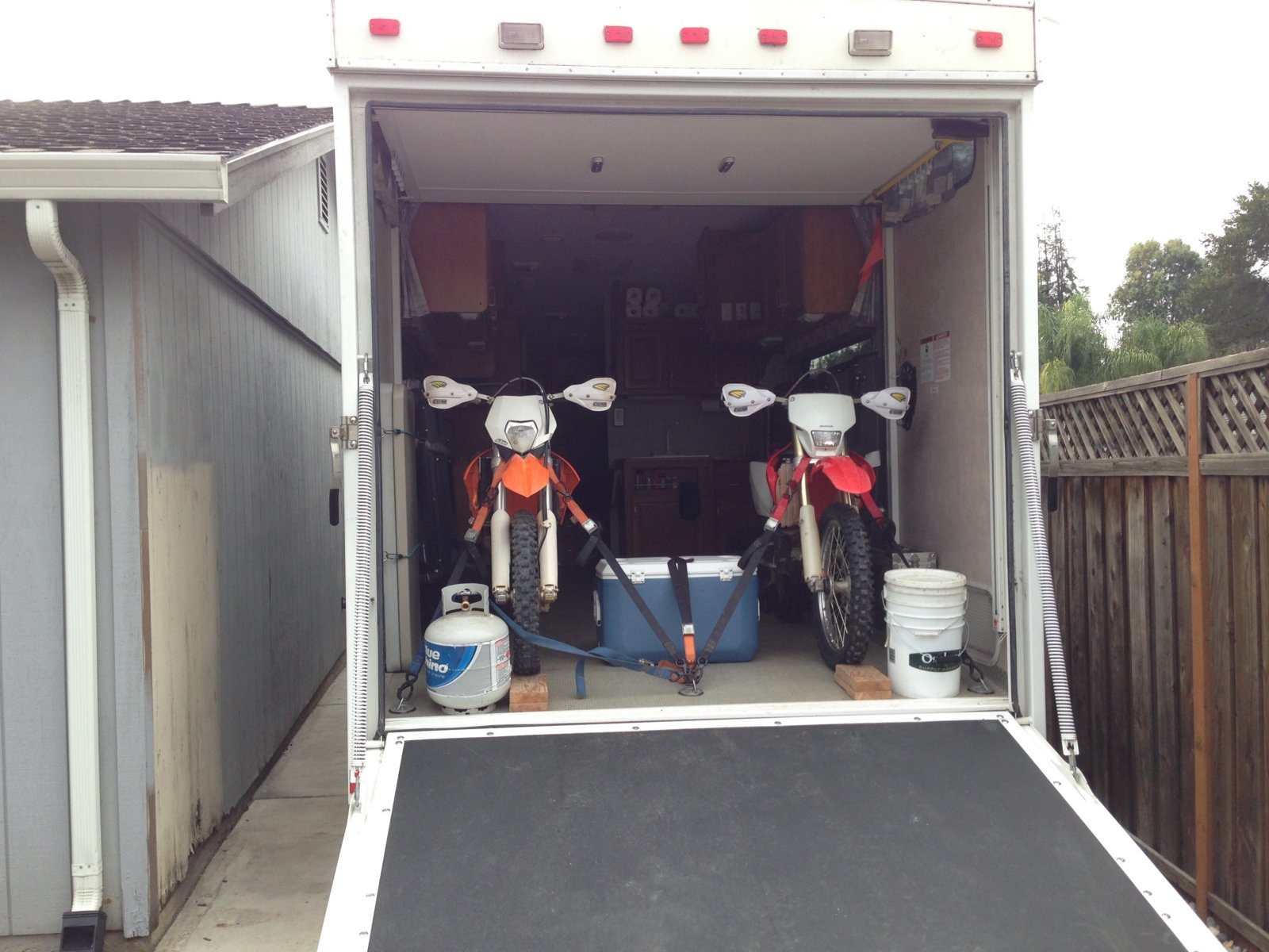 Secure Dirt Bikes In A Toy Hauler South Bay Riders