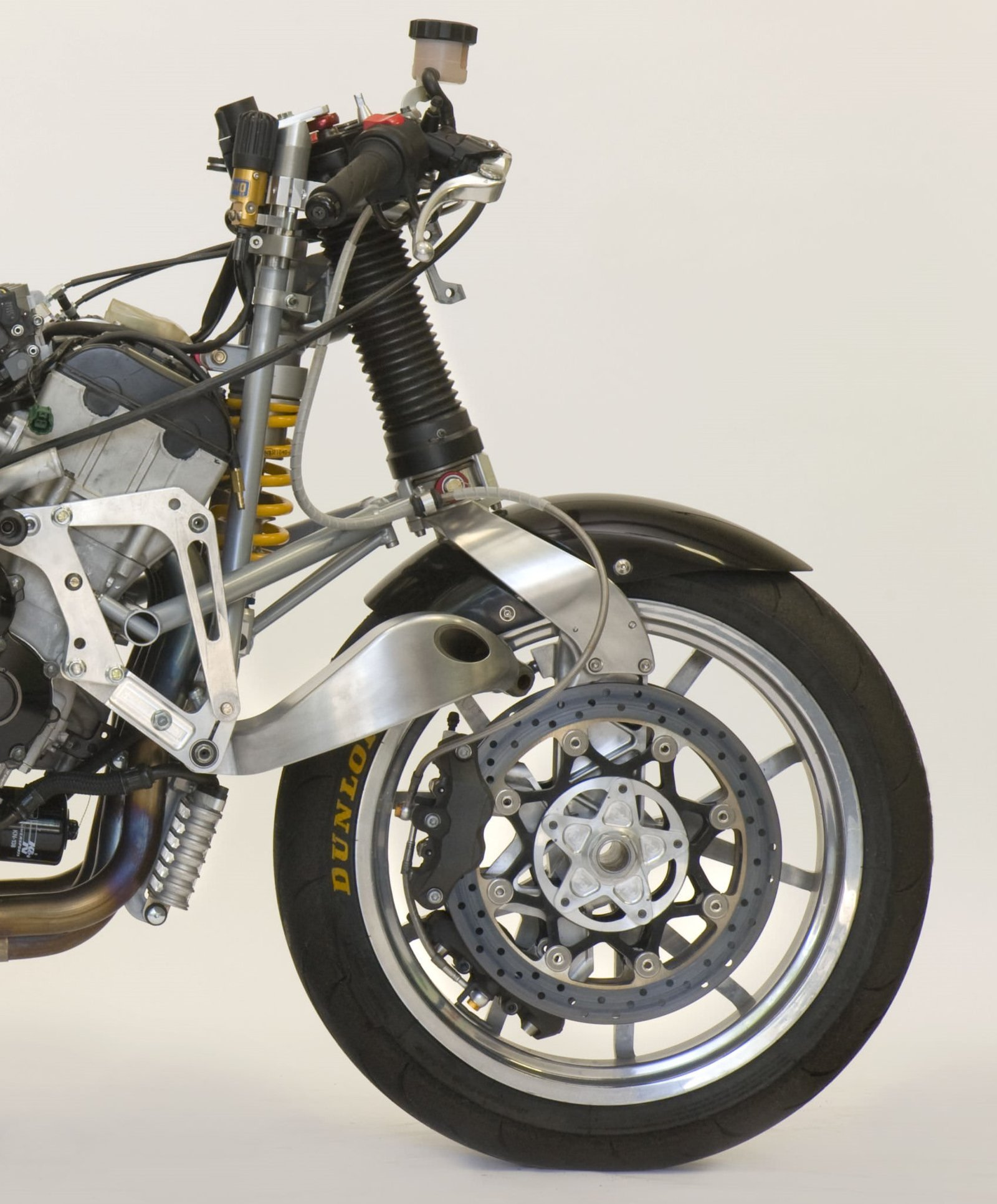 Front suspension system of motorcycle - Term paper Example