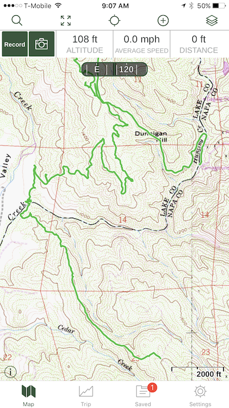 Gaia GPS app - just tested at Knoxville OHV   South Bay Riders