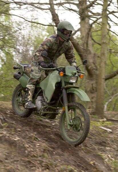 Military Vehicles For Sale >> Kawasaki KLS 650 that has been modified to run on diesel fuel | South Bay Riders